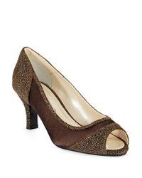 Caparros | Brown Odette Peep Toe Heels | Lyst