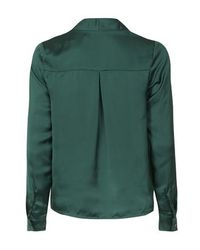 TOPSHOP - Green Sabrina Long Sleeve Blouse By Wyldr - Lyst