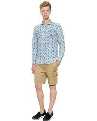 Hydrogen | Blue Avocado Star Printed Cotton Denim Shirt for Men | Lyst