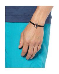 Yuvi | Black Diamond Silver and Woven Cord Bracelet for Men | Lyst