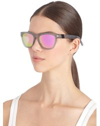 Westward Leaning - Gray Mercury Seven Square Acetate Sunglasses/Grey & Pink - Lyst