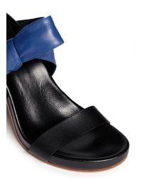 Chloé - Black 'Cerro' Bow Tie Nappa Leather Sandals - Lyst