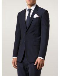 Brunello Cucinelli - White Contrast Trim Pocket Square for Men - Lyst
