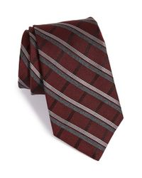 Michael Kors | Brown 'more' Plaid Silk Blend Tie for Men | Lyst