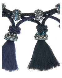 Lanvin - Blue Tassel Necklace - Lyst