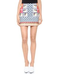 Clover Canyon | Multicolor Cuban Cigars Miniskirt | Lyst