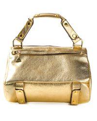 Golden Lane - Metallic Mini Tote Bag - Lyst