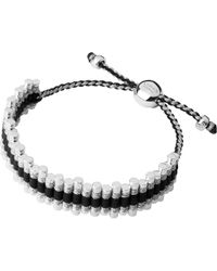 Links of London | Friendship Bracelet Black And Grey | Lyst