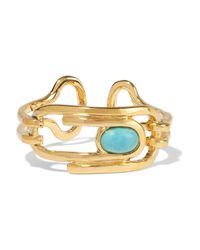 Aurelie Bidermann - Metallic Angelica Gold-plated Turquoise Ring - Lyst