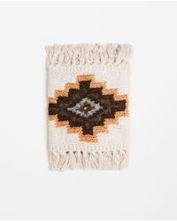 Zara | Brown Chunky Knit Scarf | Lyst
