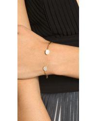 Tai - Metallic Dual Pave Thin Bracelet - Clear/gold - Lyst