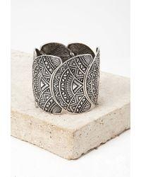 Forever 21 | Metallic -inspired Etched Bracelet | Lyst
