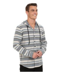 Billabong - Gray Upstate Long Sleeve Hooded Flannel for Men - Lyst