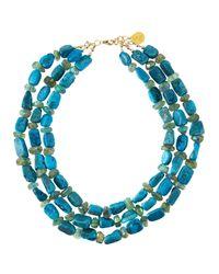Devon Leigh - Blue Druzy & Fluorite Multi-strand Necklace - Lyst