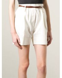 Forte Forte | Natural Belted A-Line Shorts | Lyst