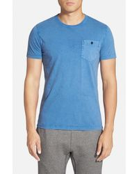 French Connection - Blue Pocket T-Shirt for Men - Lyst