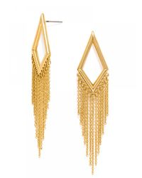 BaubleBar - Metallic Diamond Fringe Drops - Lyst