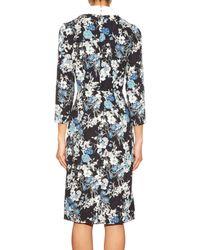 Erdem - Blue Truman Floral-print Matelassé Dress - Lyst