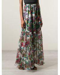 Marco Bologna | Gray Long Flower Print Skirt | Lyst