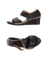 Trippen - Black Sandals - Lyst
