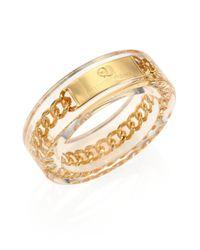 McQ | Metallic Plexi Chain Bangle Bracelet | Lyst