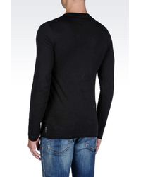 Armani Jeans | Black T-shirt In Jersey for Men | Lyst