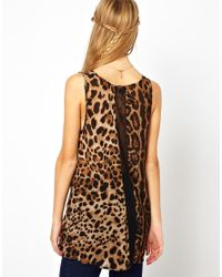 Jarlo - Natural Leopard Print Swing Tunic - Lyst