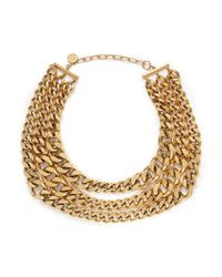 Ela Stone | Metallic 'editha' Graduated Triple Chain Necklace | Lyst