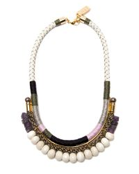 Lizzie Fortunato | White Rope and Bead Necklace | Lyst