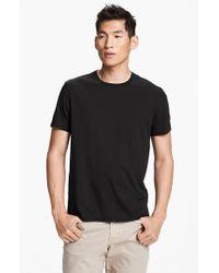 Vince | Black Pima Cotton Crewneck T-shirt for Men | Lyst