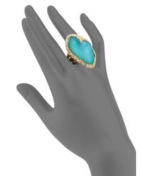 Alexis Bittar | Metallic Desert Jasmine Lucite & Crystal Asymmetric Cocktail Ring | Lyst