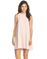 Charles Henry | Pink Crepe Sleeveless Dress | Lyst