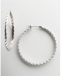 BCBGeneration | Metallic Rope-detail Hoop Earrings | Lyst