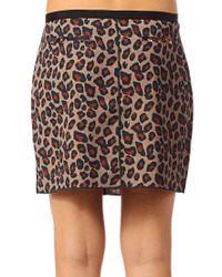 Maison Scotch - Brown Mini Skirt - Lyst