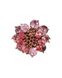 Betsey Johnson | Pink Fall Follies Stone Cocktail Ring | Lyst
