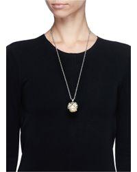 Alexander McQueen | Metallic Owl Skull Silver Strass Rock Crystal Necklace | Lyst