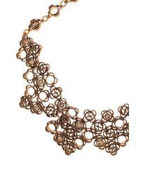 Oscar de la Renta - Metallic Multi Mosaico Necklace - Lyst