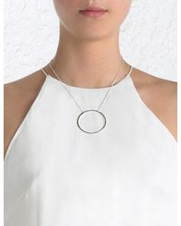 Zimmermann - Metallic Pg Large Circle Necklace - Lyst