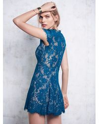 Free People | Blue Fantasia Skater Dress | Lyst