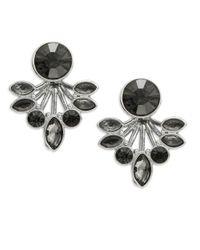 ABS By Allen Schwartz | Black Stone Cluster Stud Earrings | Lyst
