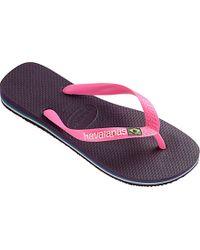 Havaianas | Purple Brasil Flip Flops | Lyst
