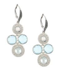 Judith Jack | Blue Cooling Effects Swarovski Crystal And Sterling Silver Chandelier Earrings | Lyst