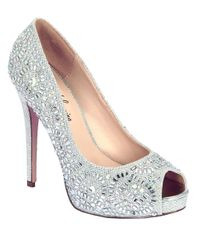 Belle By Badgley Mischka | Elissa Embellished Metallic Pumps | Lyst