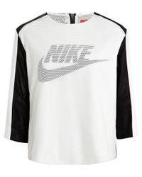 Nike | Black White Perforated T-shirt | Lyst