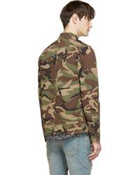 Saint Laurent - Natural Khaki Green Canvas Military Jacket for Men - Lyst