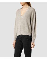 AllSaints | Natural Vix Sweater | Lyst