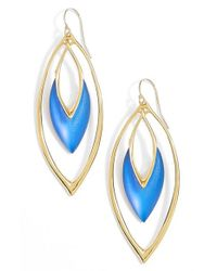 Alexis Bittar | 'lucite' Oscillating Marquise Drop Earrings - Brocade Blue | Lyst