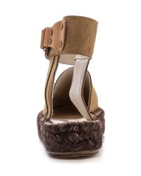 Free People | Brown Leigh Hill Footbed Sandals | Lyst