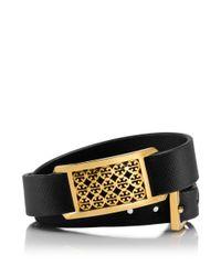 Tory Burch | Black Kinsley Double Wrap Bracelet | Lyst