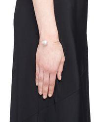 Mizuki - Metallic 'sea Of Beauty' Diamond Baroque Pearl 14k Gold Wire Cuff - Lyst